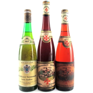 Assorted German Wines 1962 & 1964 3xBottles