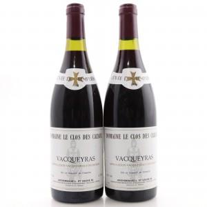 Dom. Le Clos Des CazauxCuvee Des Templiers 1990 Vacqueyras 2x75cl