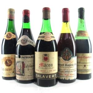 Assorted 1962 Burgundian Pinot Noir 5xBottles