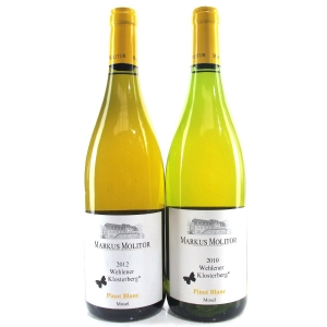 "M.Molitor ""Wehlener Klosterberg"" Pinot Blanc 2010 & 2012 Mosel 2x75cl"