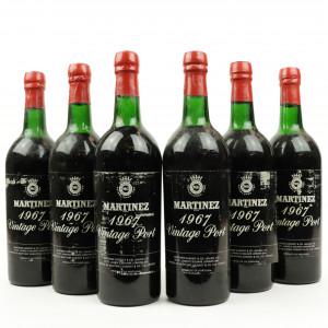 Martinez 1967 Vintage Port / 6 Bottles