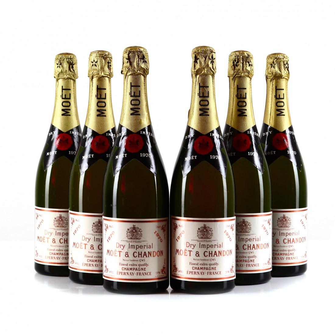 Moet & Chandon Dry Imperial Brut 1970 Vintage Champagne 6x75cl