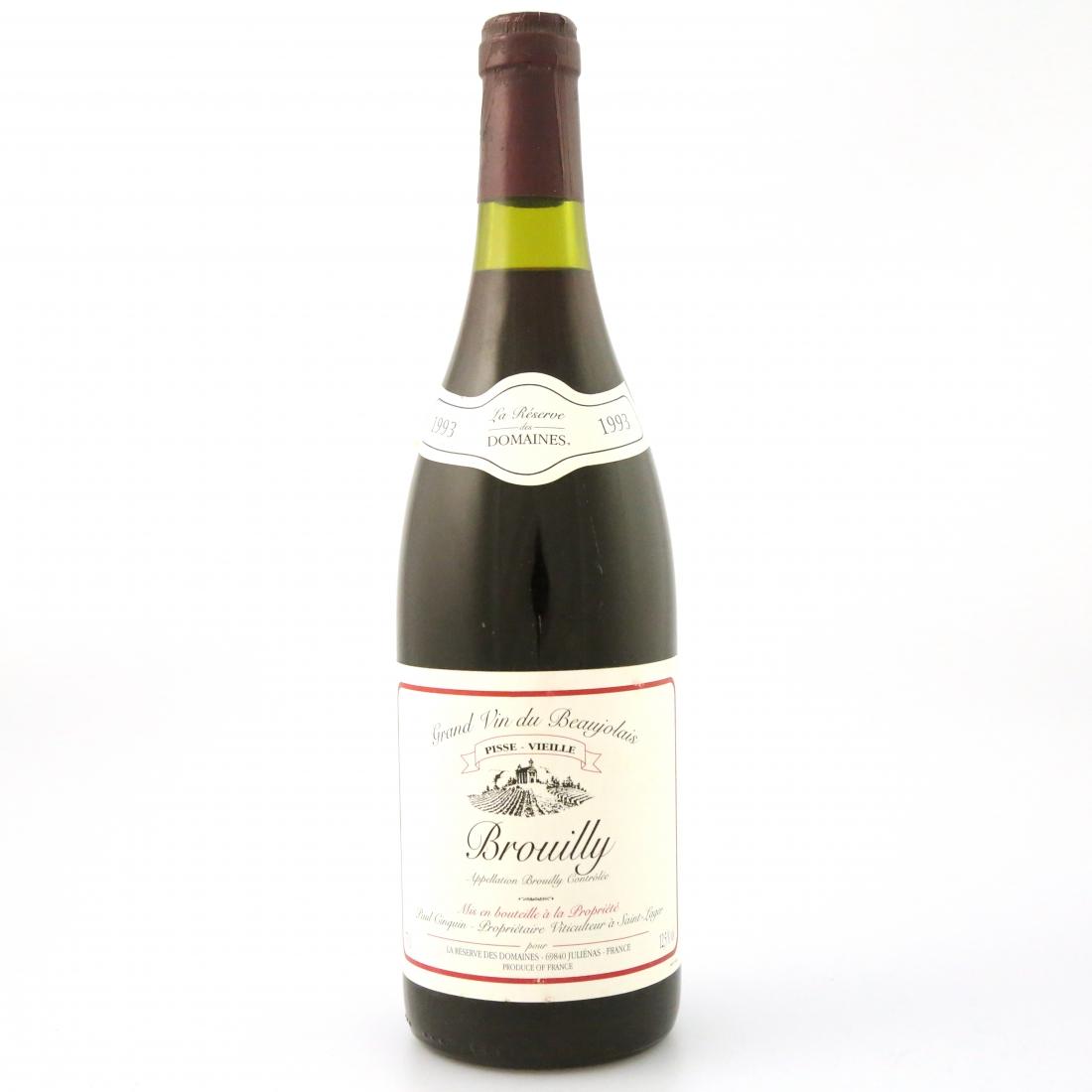 La Reserve Des Domaines 1993 Brouilly