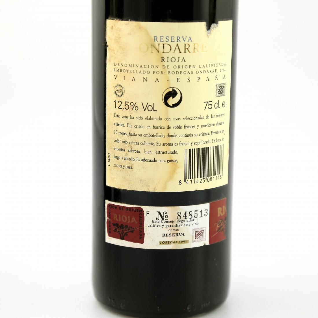 Ondarre 1991 Rioja Reserva 4x75cl