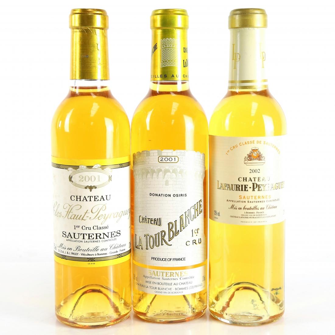 Premier Cru Chateaux 2001 & 2002 Sauternes 3x37.5cl