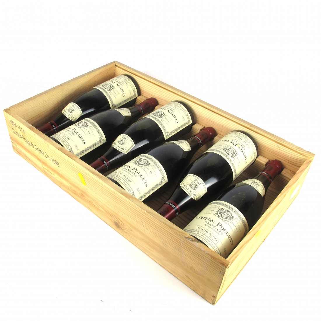 Louis Jadot 1998 Corton-Pougets Grand-Cru 6x75cl / Original Wooden Case