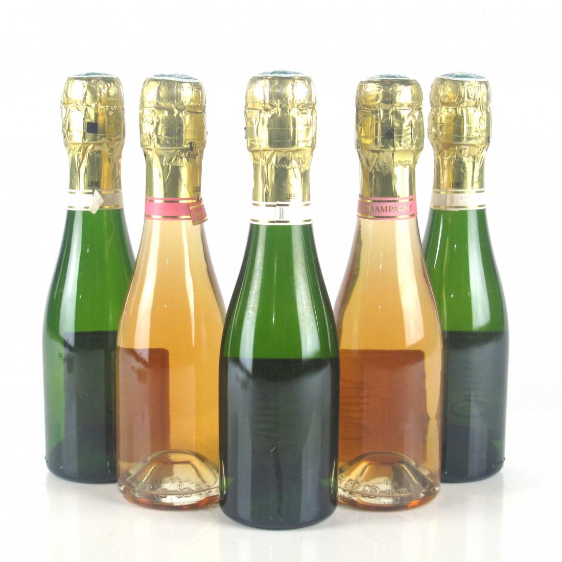 Cattier Brut & Rose NV Champagne 5x20cl