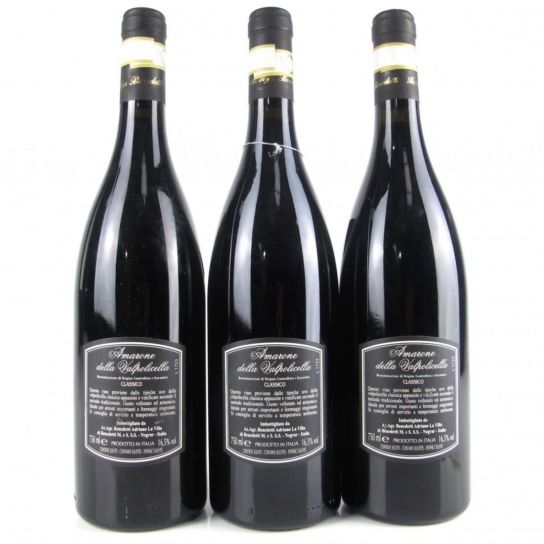 """Beneditti """"La Permuta"""" 2011 Amarone Classico 3x75cl"""