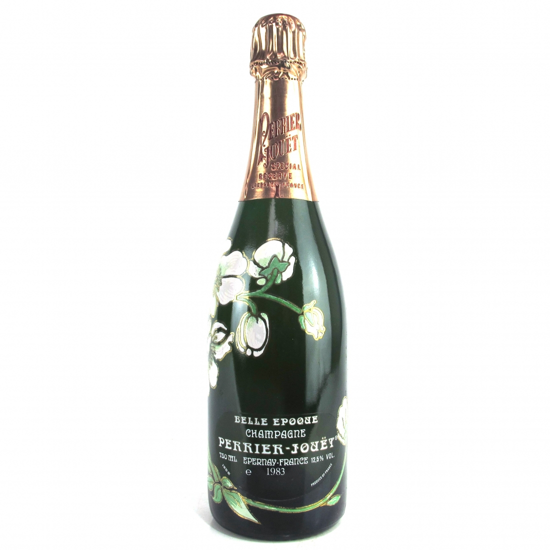 """Perrier-Jouet """"Belle Epoque"""" 1983 Champagne / 2 Glasses & Bowl Giftset"""