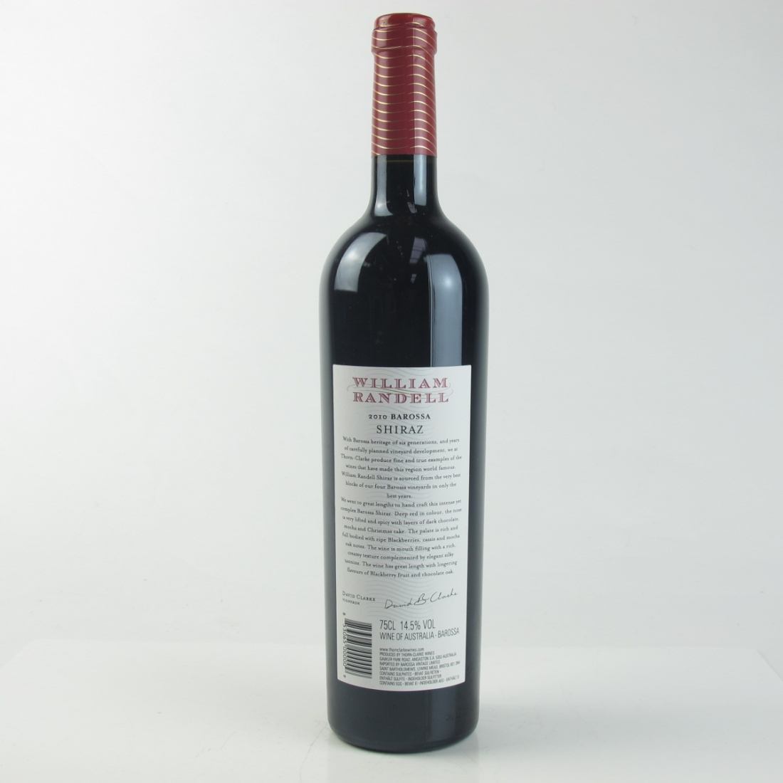 William Randell Shiraz 2010 Barossa