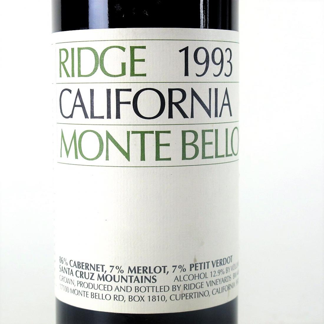 Ridge Monte Bello 1993 Santa Cruz Mountains