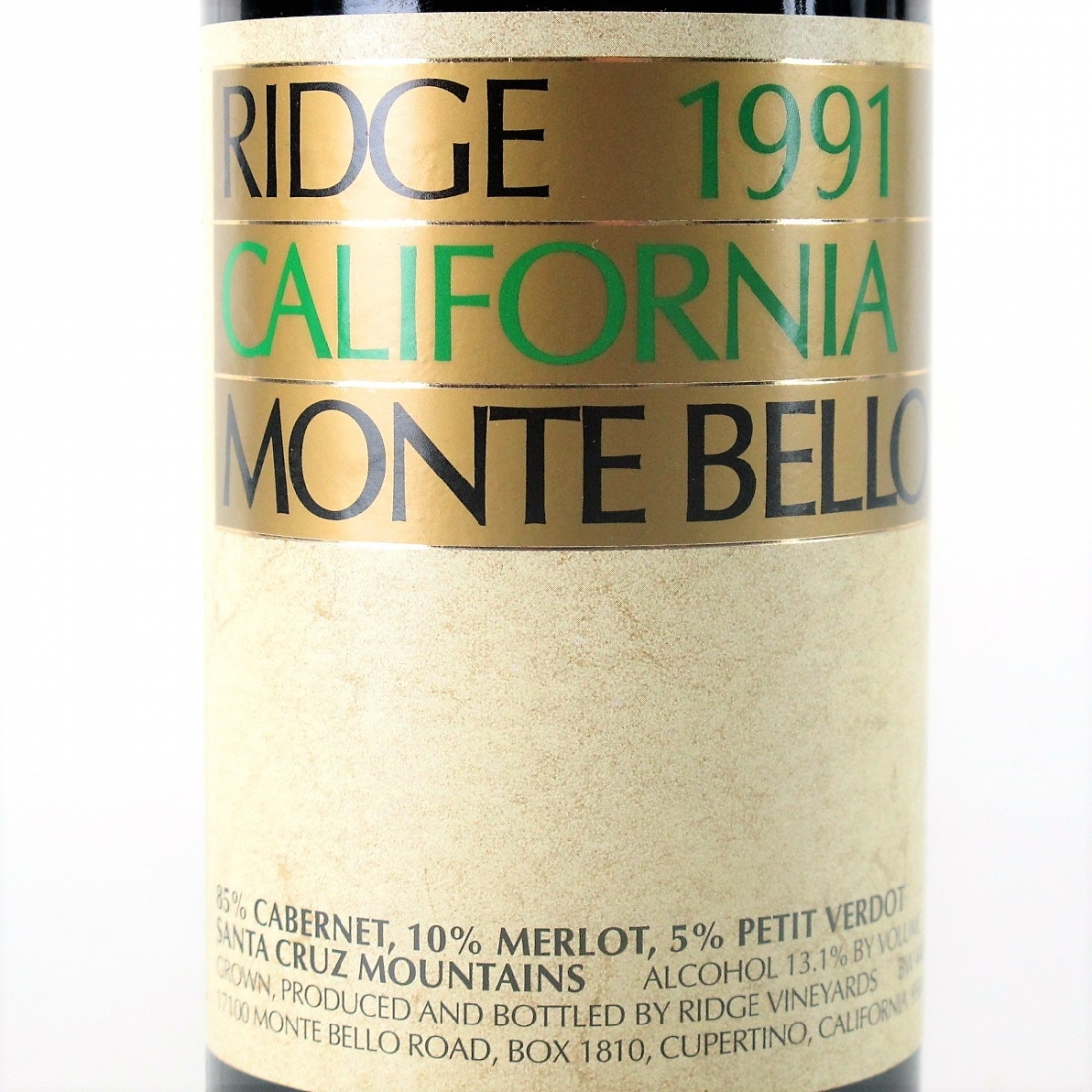 Ridge Monte Bello 1991 Santa Cruz Mountains
