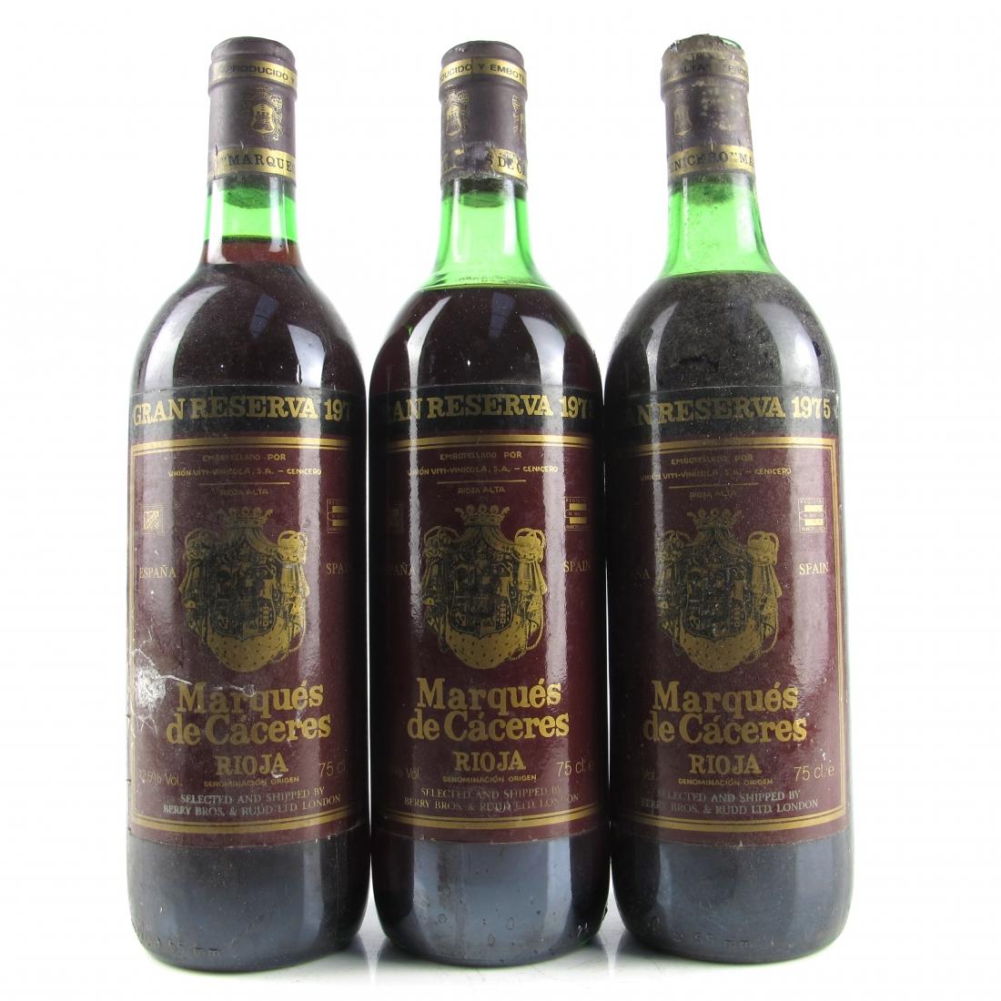 Marques De Caceres 1975 Rioja Gran Reserva 3x75cl