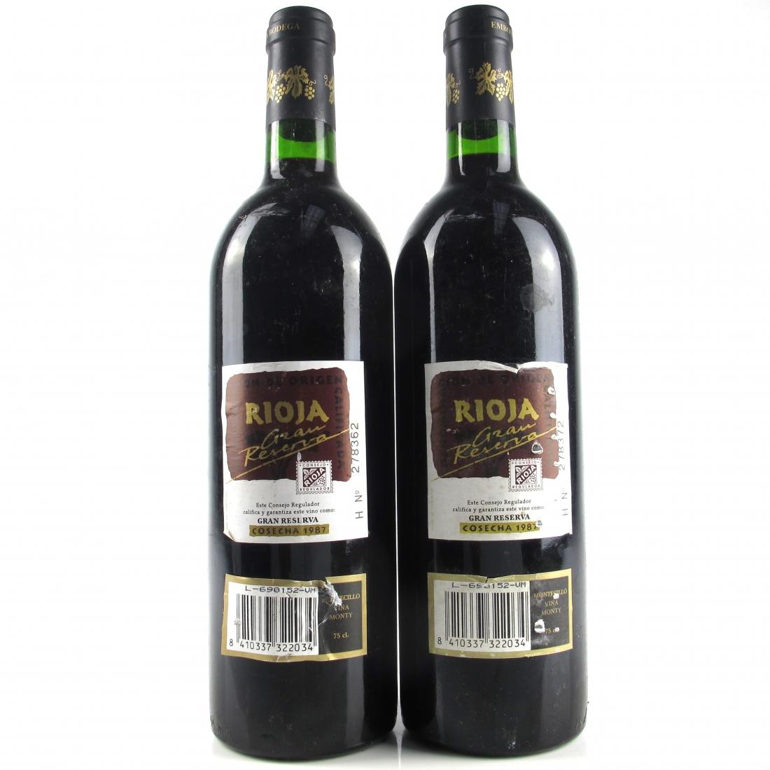 Viña Monty 1987 Rioja Gran Reserva 2x75cl