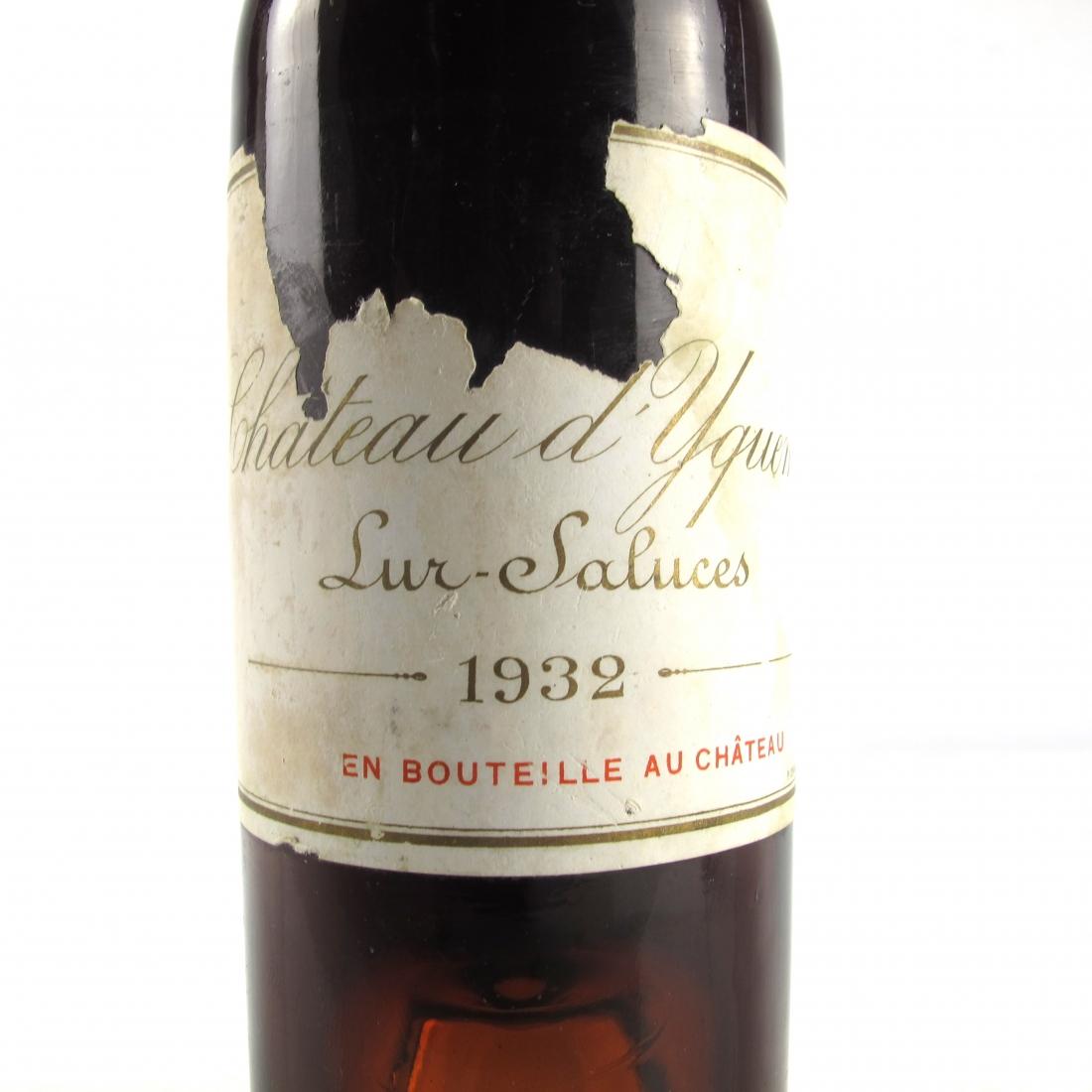 Ch. d'Yquem 1932 Sauternes 1er-Cru-Superior 37.5cl
