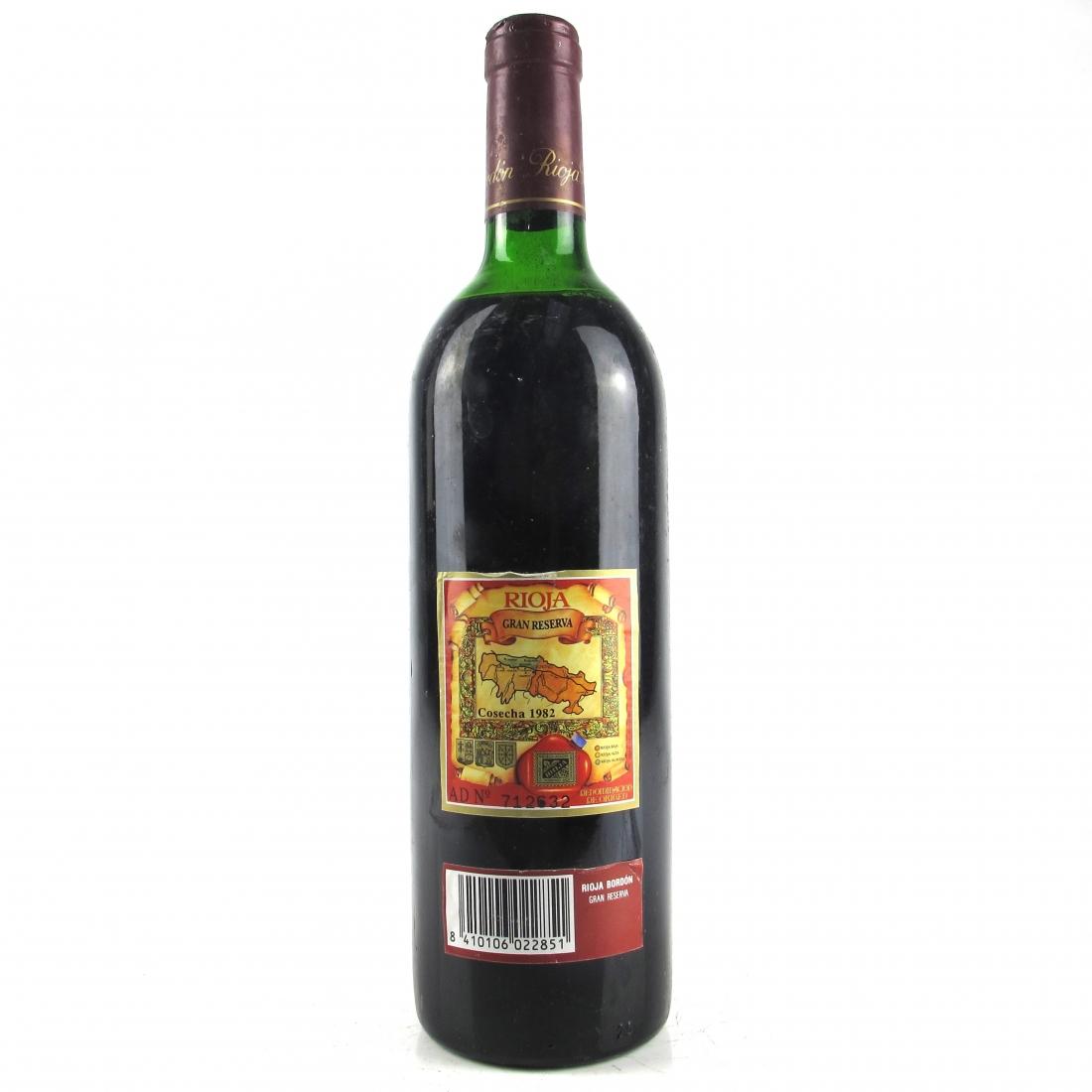Bordon 1982 Rioja Gran Reserva