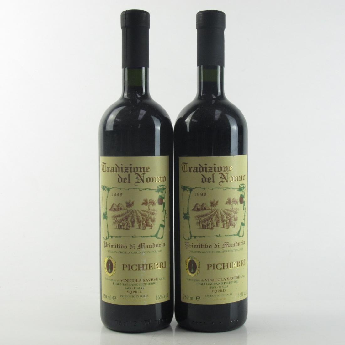 Pichierri Primitivo di Manduria 1998 Puglia 2x75cl