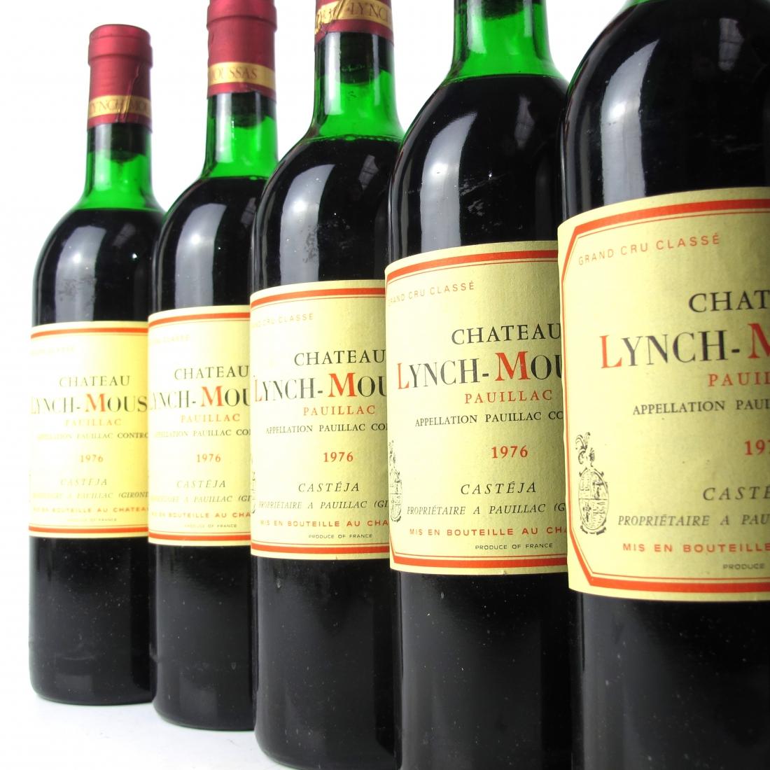 Ch. Lynch-Moussas 1976 Pauillac 5eme-Cru 12x75cl / Original Wooden Case
