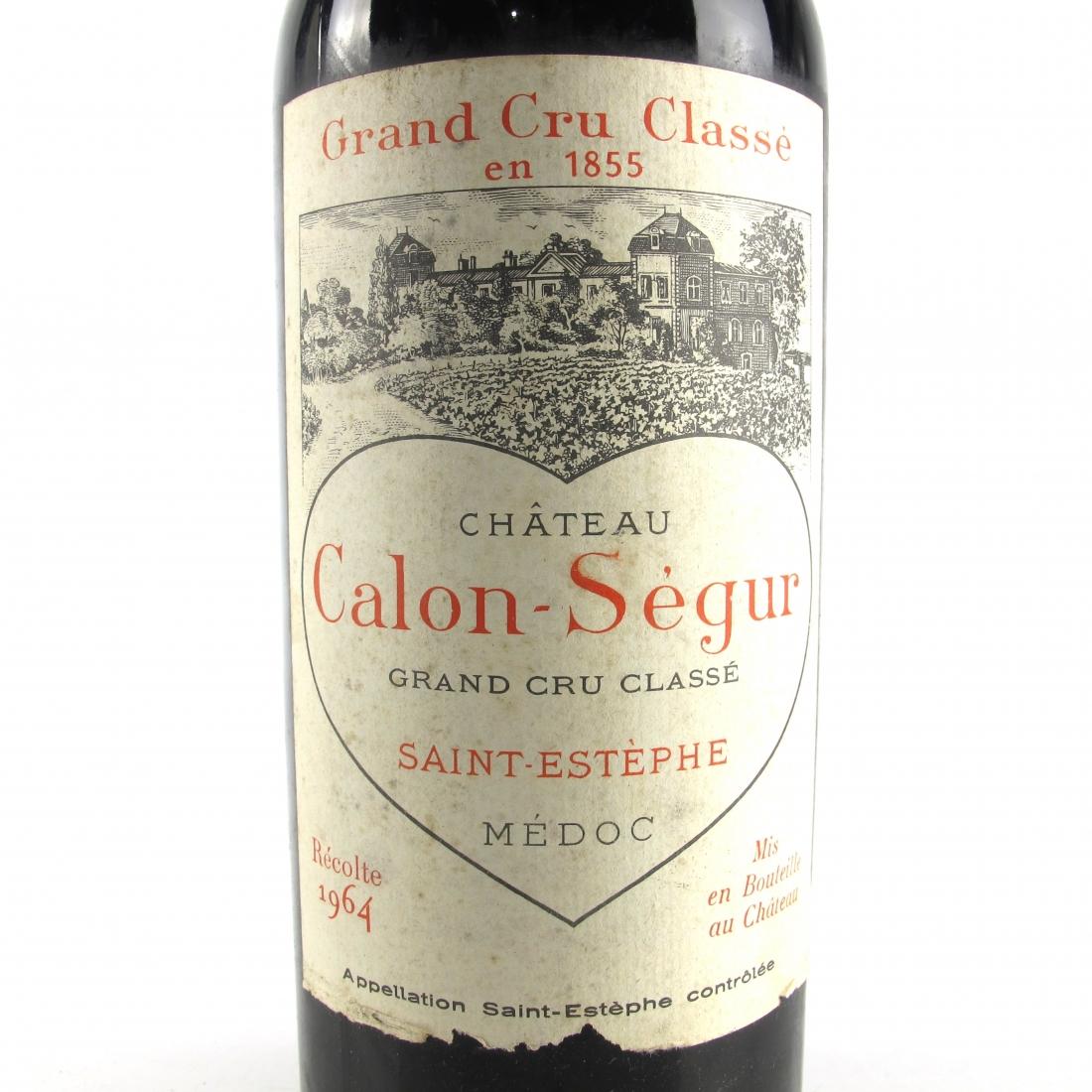 Ch. Calon-Segur 1964 Saint Estephe 3eme-Cru 150cl