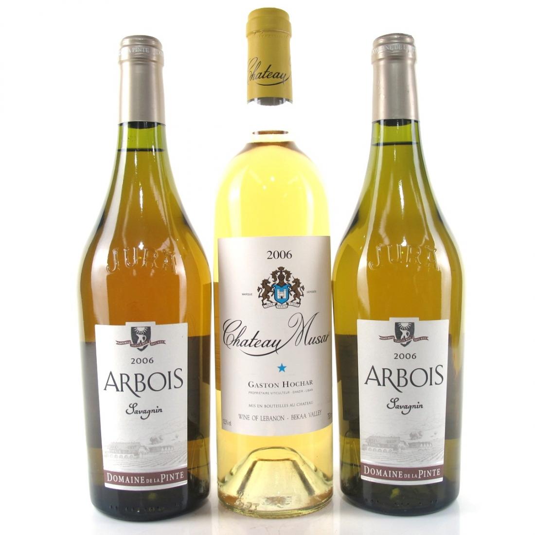Ch. Musar Blanc 2006 Bekaa & Dom. De La Pinte Savagnin 2006 Arbois 3x75cl