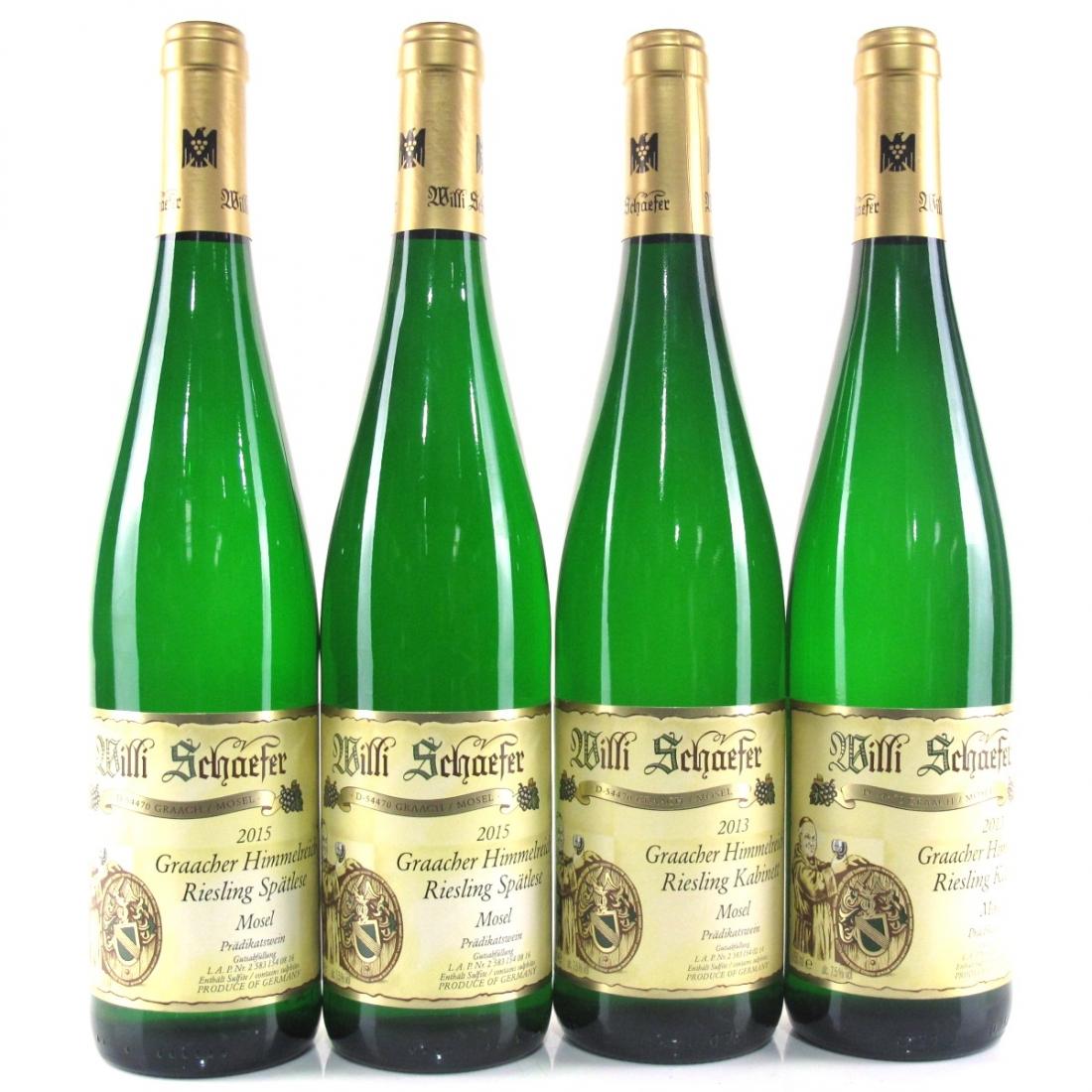 W.Schaefer Riesling Kabinett 2013 & Spatlese 2015 4x75cl