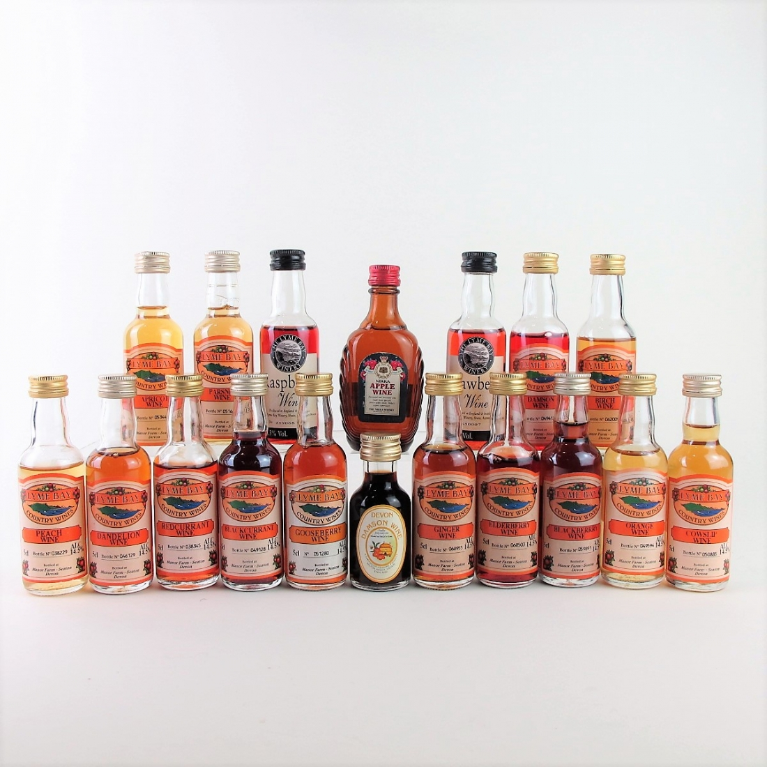 Selection of Fruit Wine Miniatures 18x5cl
