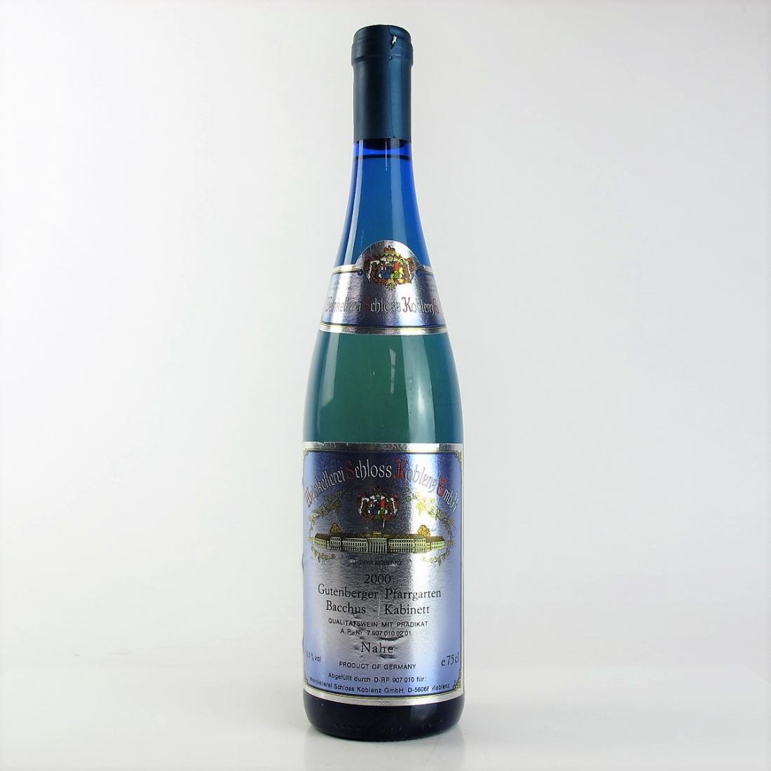 Koblenz Gutenberger Pfarrgarten Bacchus Kabinett Riesling 2000 Germany