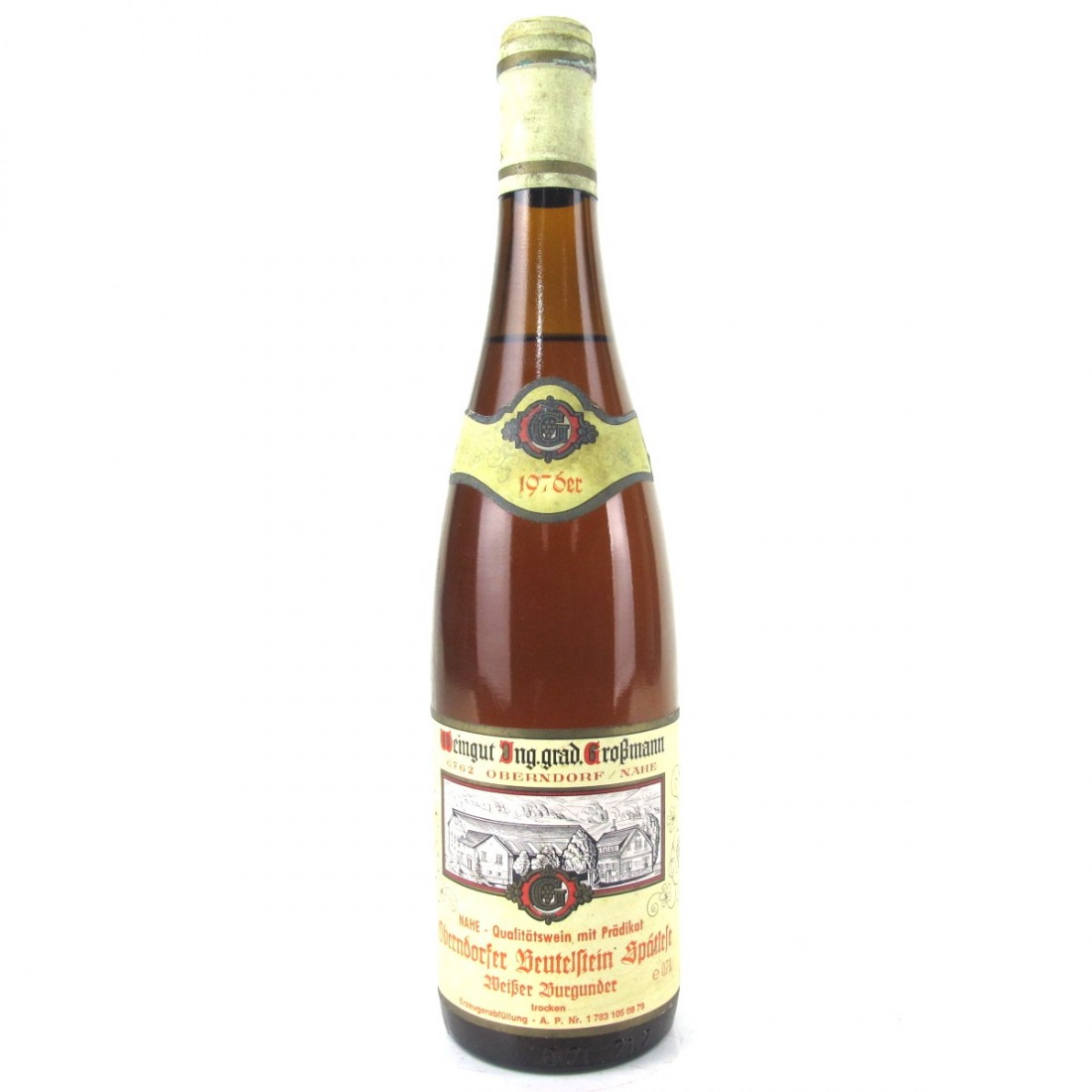 Großmann Pinot Blanc Spatlese 1976 Nahe