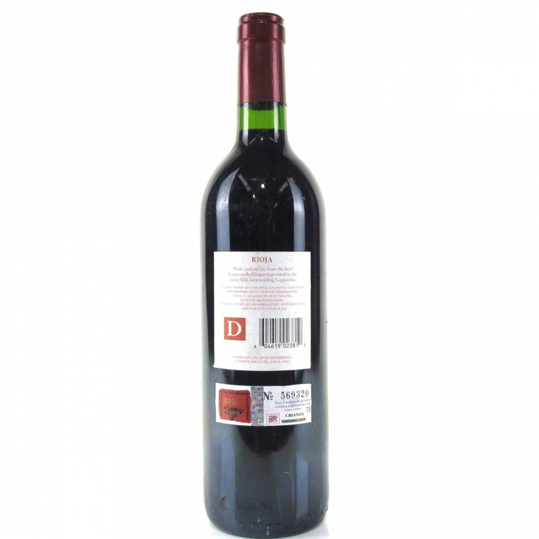 Bodegas Palacio 1998 Rioja Crianza / Harrods