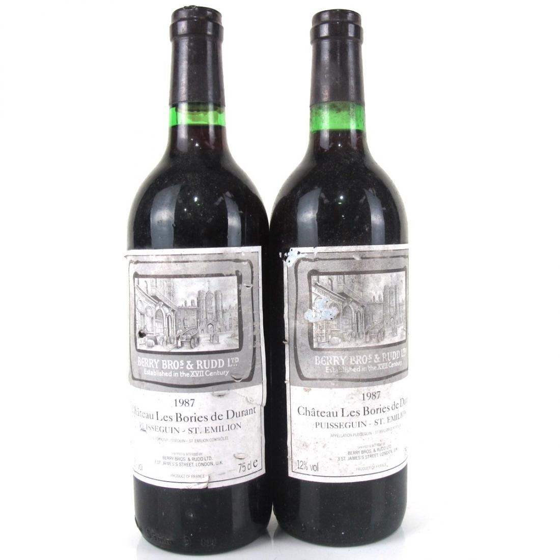 Chateau Les Bories De Durant 1987 Bordeaux 2x75cl