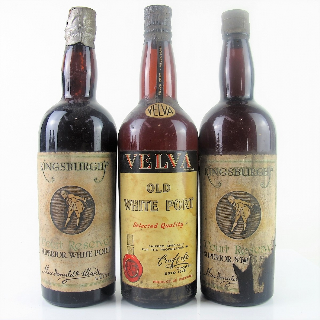 Various Old White Ports Circa 1930s 3x75cl