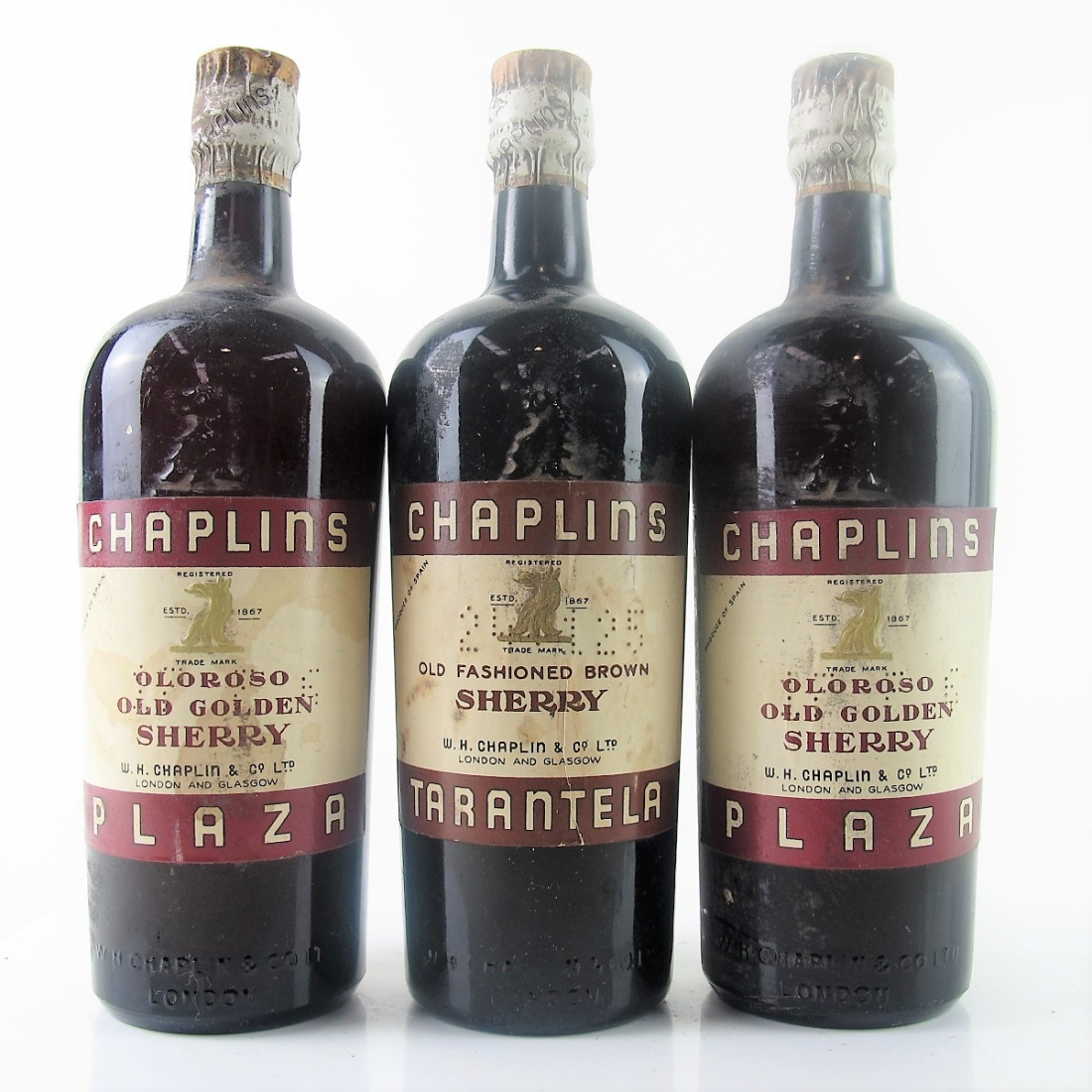 Chaplins Oloroso Sherry Circa 1940s 3x75cl