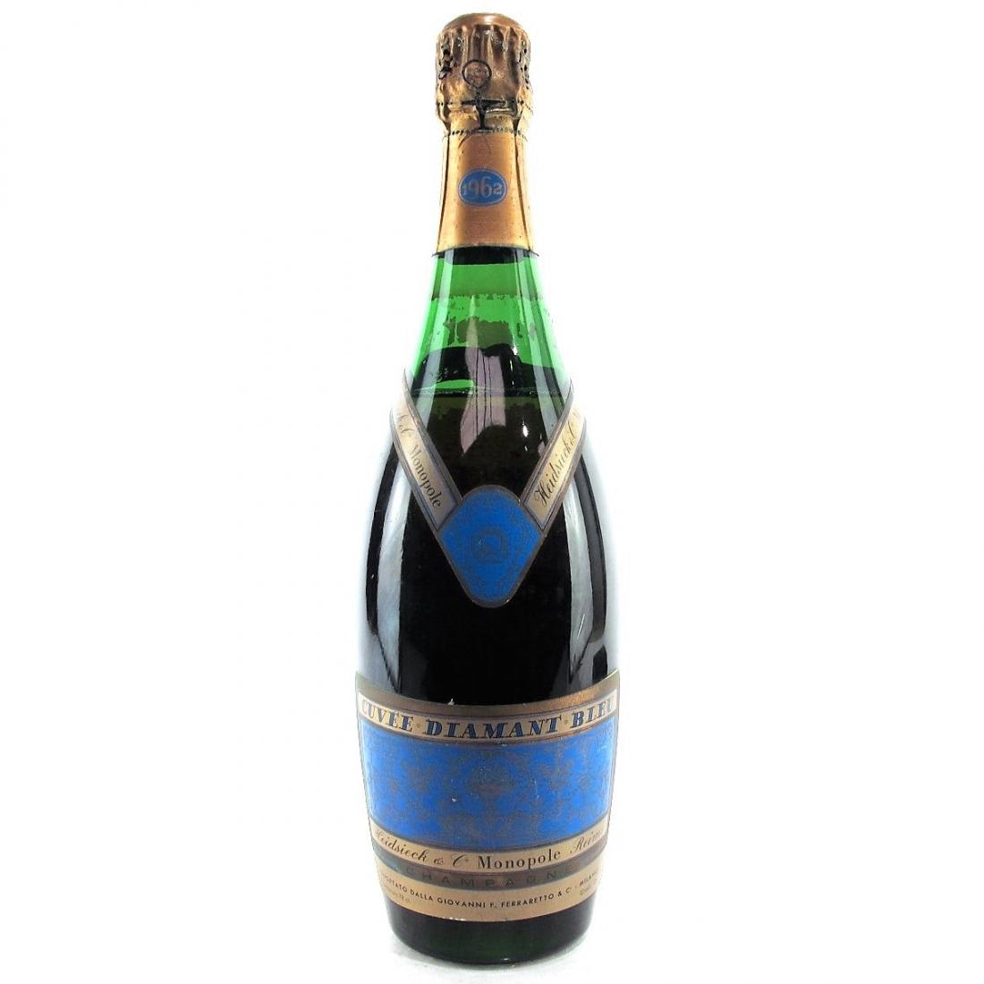 """Heidsieck Monopole """"Cuvee Diamant Bleu"""" 1962 Vintage Champagne"""