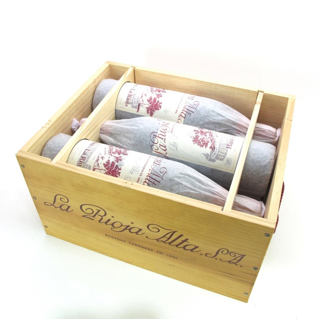 """La Rioja Alta """"890"""" 1998 Rioja Gran Reserva 6x75cl / Original Wooden Case"""