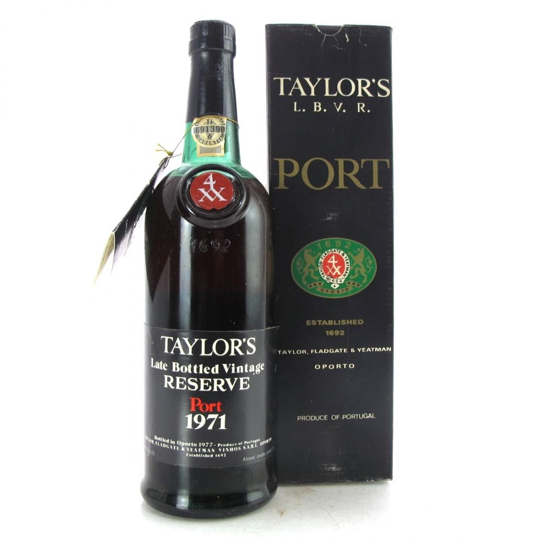 Taylor's 1971 LBV Reserve Port