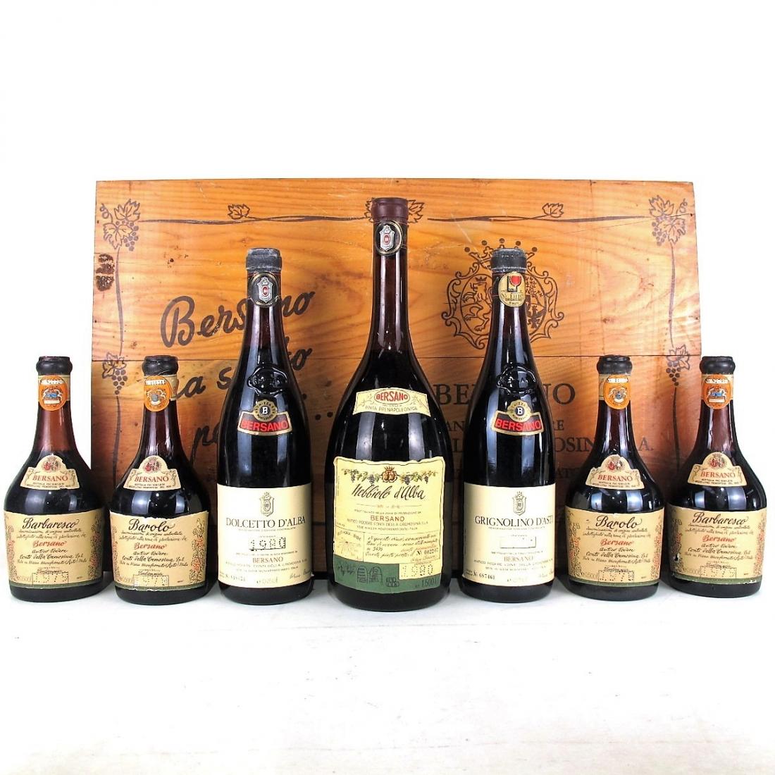 Bersano Selection & Presentation Box / 7 Bottles Various Sizes
