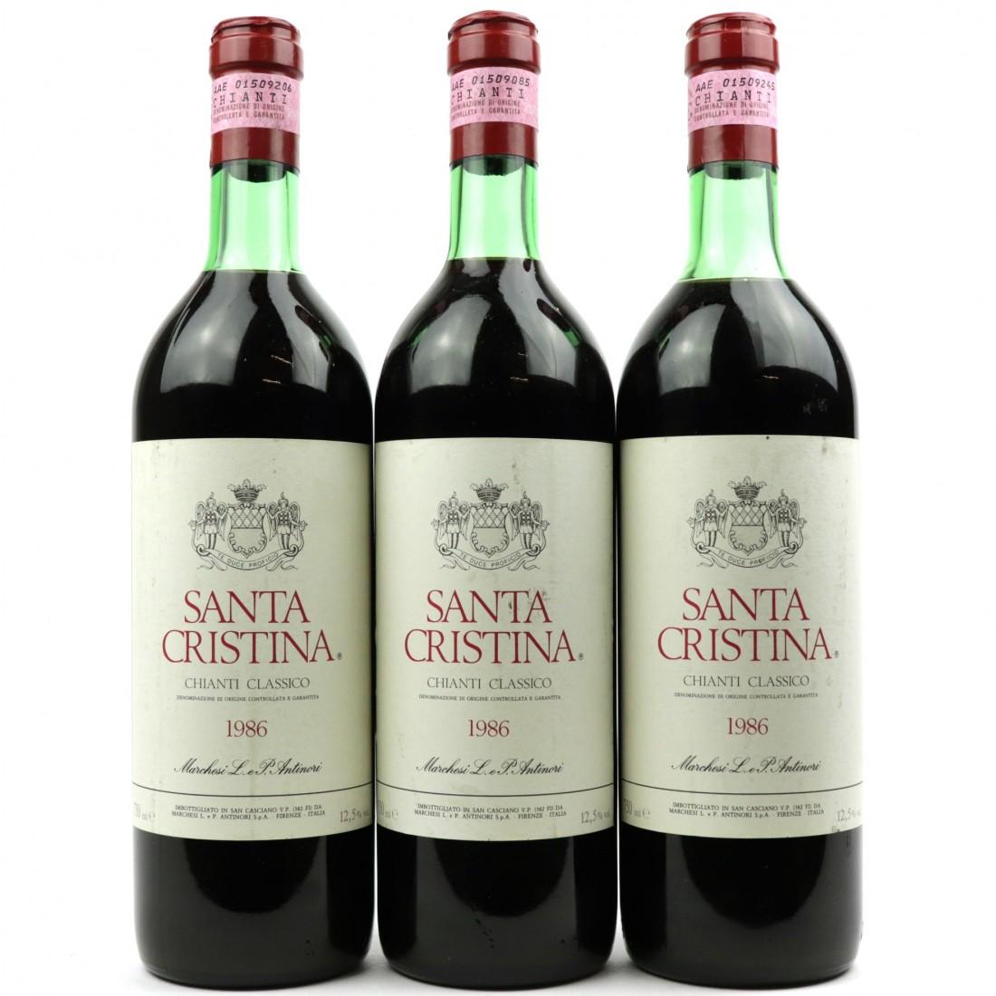 Santa Cristina 1986 Chianti Classico 3x75cl